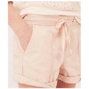Lou & Grey LOFT Blush Washed Poplin Shorts   <234>